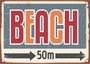 Placa Decorativa Beach 50m