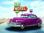 Placa Decorativa Route 66 Motel Vacancy