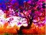 Placa Decorativa Árvore Abstrata