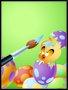 Placa Decorativa Infantil Ave e os Ovos Coloridos