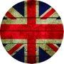 Placa Decorativa Redonda Bandeira da Inglaterra