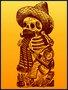 Placa Decorativa Esqueleto Mexicano