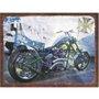 Placa Decorativa Vintage Moto