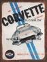 Placa Decorativa Publicidade Antiga Corvette