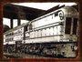 Placa Decorativa Foto de Locomotiva Antiga