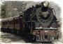 Placa Decorativa Locomotiva