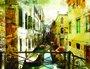 Placa Decorativa Pintura de Veneza