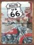 Placa Decorativa Moto Route Us 66
