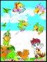 Placa Decorativa Infantil Papagaios e Crianças