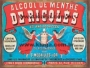 Placa Decorativa Publicidade Antiga Alcool de Menthe de Ricqles