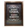 Quadro Porta Rolhas Melhores Vinhos, Melhores Momentos