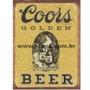 Placa Decorativas Coors Golden Beer