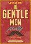 Placa Decorativa Lounge Bar Gentle Men Party