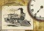 Placa Decorativa Vintage Locomotiva