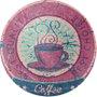 Placa Decorativa Redonda Coffee