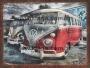 Placa Decorativa Kombi Vintage