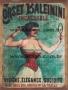 Placa Decorativa Publicidade Antiga Corset Baleinini
