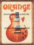 Placa Decoratico Vintage Guitarra Orange