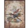 Placa Decorativa Vintage Pássaros