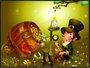Placa Decorativa Infantil Duende e o Barril de Ouro
