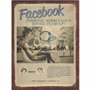 Placa Decorativa Vintage Rede Social Facebook Striking, Miraculous Social Team-Up!