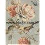 Placa Decorativa Vintage Flores e Pássaros