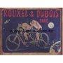 Placa Decorativa Bicicleta Dupla Rouxel & Dubois Paris