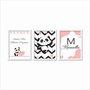 Kit 3 Quadros Decorativos Personalizados com o Nome Infantil Sonhe Alto Minha Pequena
