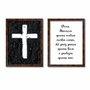 Kit de 2 Quadros Decorativos Deus Abençoe Quem Entra Nessa Casa, Dê Paz Para Quem Fica e Proteja Quem Sai