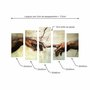 Kit de Quadros Decorativos A Criação de Adão de Michelangelo