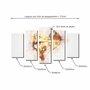 Kit de Quadros Decorativos Acrobacia com Arco e Flecha