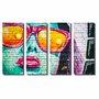 Kit de Quadros Decorativos Arte em Grafite Mulher com Óculos
