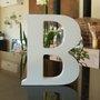 Letra Decorativa B 15cm em Mdf Laqueado 15mm - Branco