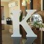 Letra Decorativa K 15cm em Mdf Laqueado 15mm - Branco