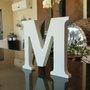 Letra Decorativa M 15cm em Mdf Laqueado 15mm - Branco