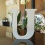 Letra Decorativa U 15cm em Mdf Laqueado 15mm - Branco