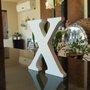 Letra Decorativa X 15cm em Mdf Laqueado15mm - Branco
