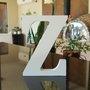 Letra Decorativa Z 15cm em Mdf Laqueado 15mm - Branco