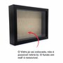 Moldura Caixa Alta com Vidro para Quadros Quilling e Scrapbook