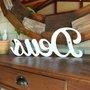 Palavra Decorativa Deus 38cm em Mdf Laqueado Branco 15mm