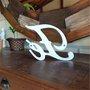 Palavra Decorativa Fé 20cm em Mdf Laqueado Branco 15mm