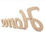 Palavra Decorativa Home 42cm em Mdf Cru 15mm - cnc26
