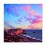 Placa Decorativa Coleção Mar Céu Rosa