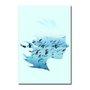 Placa Decorativa Coleção Mar Perfil De Mulher