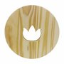 Placa Decorativa Descanso De Panela Flor de Lotus