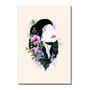 Placa Decorativa Face Mulher com Flores
