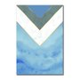 Placa Decorativa Geométrico Azul