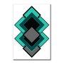Placa Decorativa Geométrico Diversas Formas