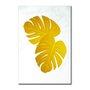 Placa Decorativa Geométrico Folha De Adão Dourada