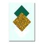 Placa Decorativa Geométrico Losango Dourado